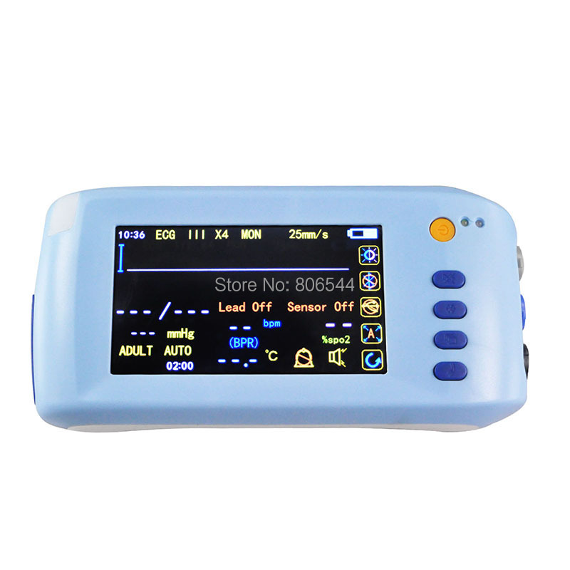 Handheld 6-Parameter Vital sign Monitor Patient Monitor ECG NIBP Spo2 Pulse Rate Temperature 2016