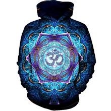 2019 new fashion Cool sweatshirt Hoodies Men women 3D print Blue lotus petal hot Style Streetwear Long sleeve