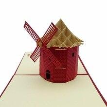 Hot Sales 3D Handmade Paper font b Custom b font Greeting Cards Souvenirs Postcards Christmas Gifts