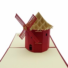 Hot Sales 3D Handmade Paper Custom Greeting Cards Souvenirs Postcards Christmas Gifts Greeting Card Laser Wedding Invitations