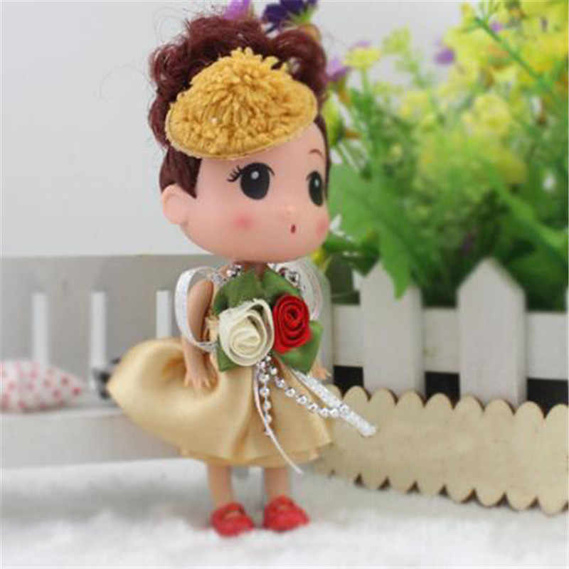 חמוד מיני סיליקון ילדה לבלבל בובת צעצוע עוגת בובות קטן תליון רך צעצועים לילדים חג המולד מתנות 2020 חדש מכירה לוהטת 12CM 1PCS