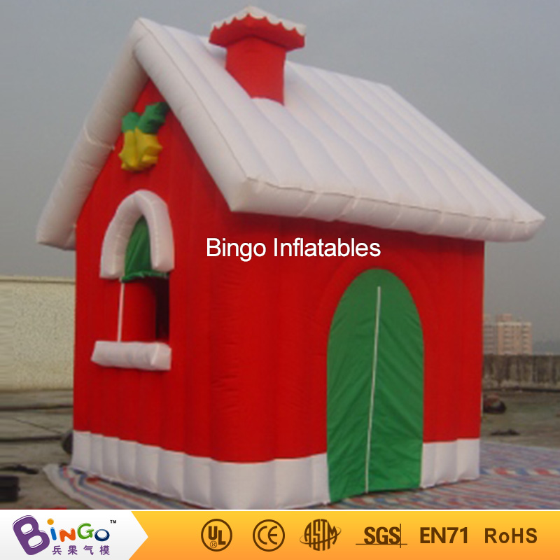 Christmas Inflatable House/ Christmas Inflatable Snow House for Christmas holiday BINGO factory direct sale BG-A0503 toy 3m diameter empty inflatable snow ball for advertisement christmas decorations giant inflatable snow globe