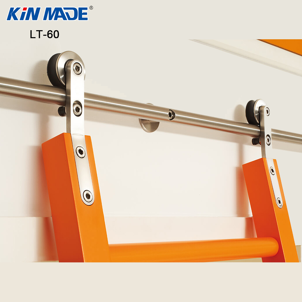 Kinmade Stainless Steel Round Tube Sliding Ladder Hardware Library Ladder Track Kit