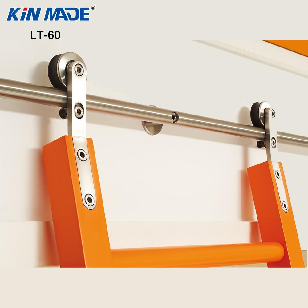 Kinmade Stainless Steel Round Tube Sliding Ladder Hardware Library Ladder Track Kit-in Slides from Home Improvement    1
