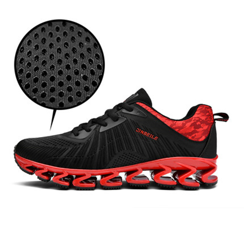 jinbeile running shoes Unisex Breathable Height Increasing Massage Cushioning sneakers sport shoes men womens jogging