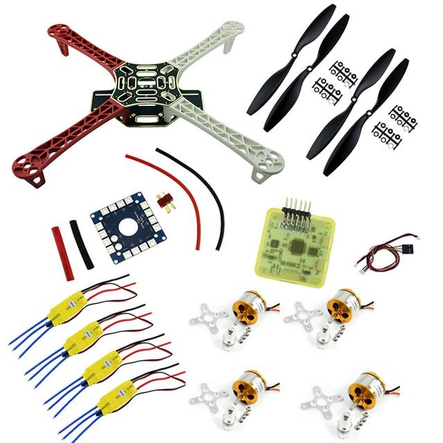 f450 fpv combo dji f450 quadcopter frame rack kit with cc3d flight controller 2212 1000kv motor - Dji F450 Frame