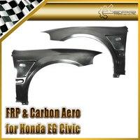 Car styling For Honda EG Civic Hatch Back FRP Fiber Glass Js Racing Front Fender +20mm Fiberglass Wheel Flare Auto Body Kit Trim