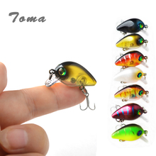 TOMA Hard Fishing Lure Crank Bait 28mm 1.7g Floating Depth 0.1-0.3m Lake River Fishing Wobblers Carp Fishing isca artificial