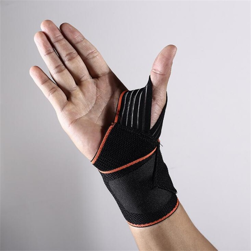 Cotton Weat band Fitness Powerlifting Wristband hand 1 piece Elastic Sport Bandage Gym Support Wrist Brace Wrap Tennis