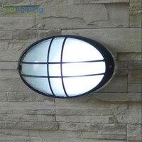 Vintage Oval Waterproof front door wall lamp outdoor lights sconces rustproof garden outdoor proch lights exterior lamp