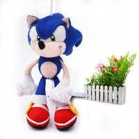 """8 """"20 cm azul sonic animal brinquedos de pelúcia peluche macio boneca brinquedo dos desenhos animados figura bonecas presente de natal para crianças"""