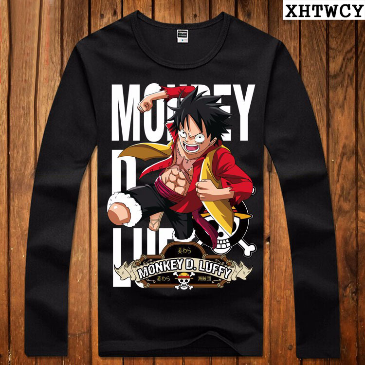 one piece t shirt luffy straw hat japanese anime t shirts. Black Bedroom Furniture Sets. Home Design Ideas