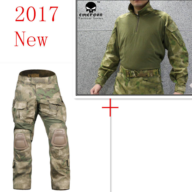 Emerson bdu G3 Combat uniform shirt & Pants with knee pads Emerson BDU Military Army uniform AT/FG Suits EM8576+7030 combat army uniform emerson bdu tactical shirt