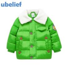 UBELIEF toddler boys parkas Baby kids winter jacket boys down jacket solid thick outerwear coats Winter Children Boy Parkas Coat