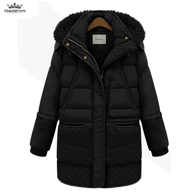 2019 Women Winter Cotton Coat Thicken Warm Wool Liner Solid Casual Hoodie   Parkas   Jacket Thicken Warm Plus Size padded Outerwear