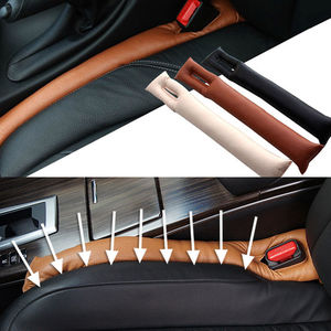 Image 2 - Automobiles Seat Gap Filler Spacer Pad Auto Seats Stuffing Infilling Padding Car Interior Accessories Faux Leather Cotton Filled