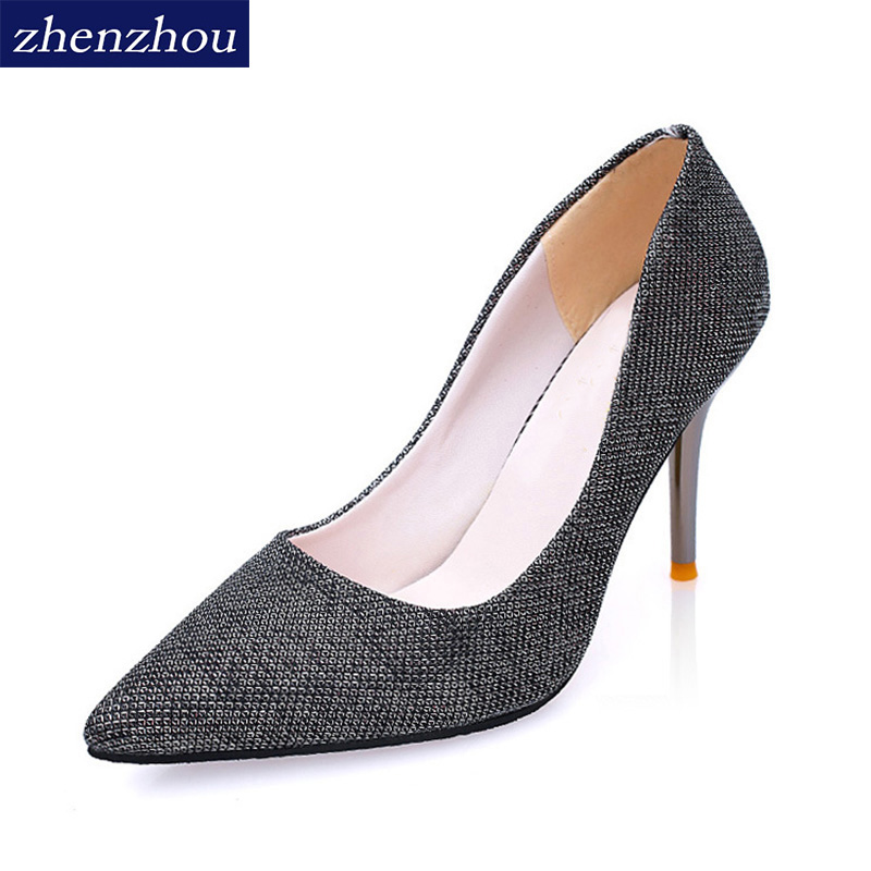 Fashion trend women's shoes New  spring and autumn 2017 You are from the stars Pointed heels Korean edition Night club heels