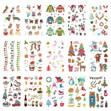 15pcs Christmas Gift Temporary Tattoo Sticker for Body Art Cartoon Water Transfer Flash Tattoo Fake Tatoo for Kid Child Tattoos 6pcs waterproof temporary tattoo sticker body art birds wing tattoo finger water transfer flash tattoo fake tattoo for girl boy