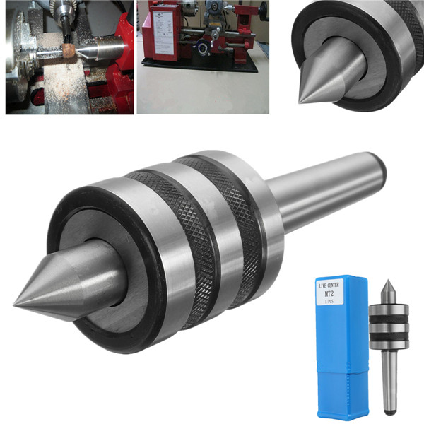 MT2 Precision Rotary Live Center Morse Taper 2MT Triple Bearing Lathe Medium Duty for High Speed Turning CNC Work цена