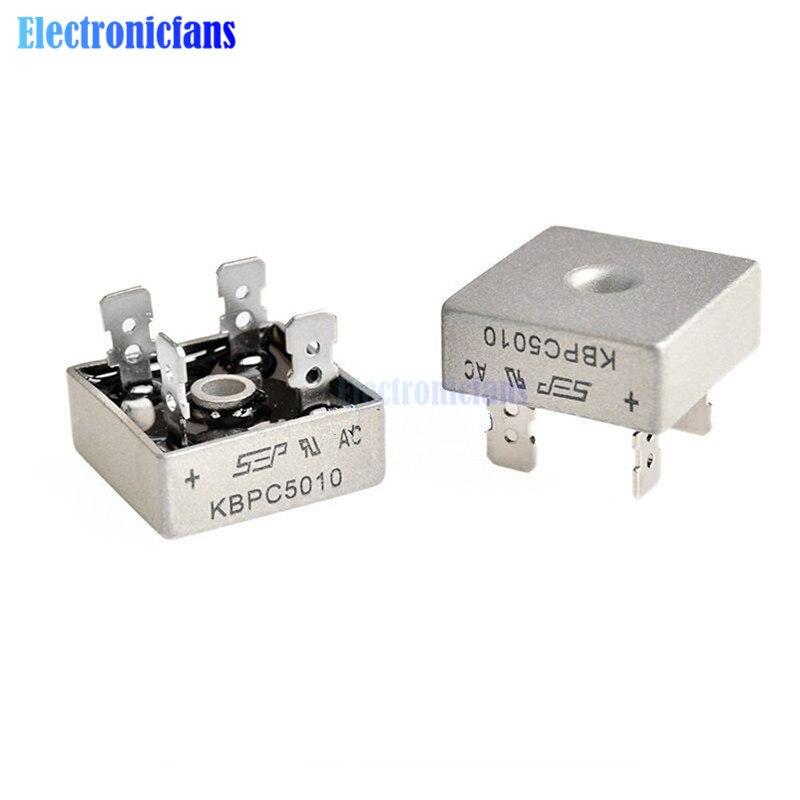 2 шт. KBPC5010 диодный мостовой выпрямитель диод 50А 1000 В кбпц 5010 силовой выпрямительный диод электронные компоненты