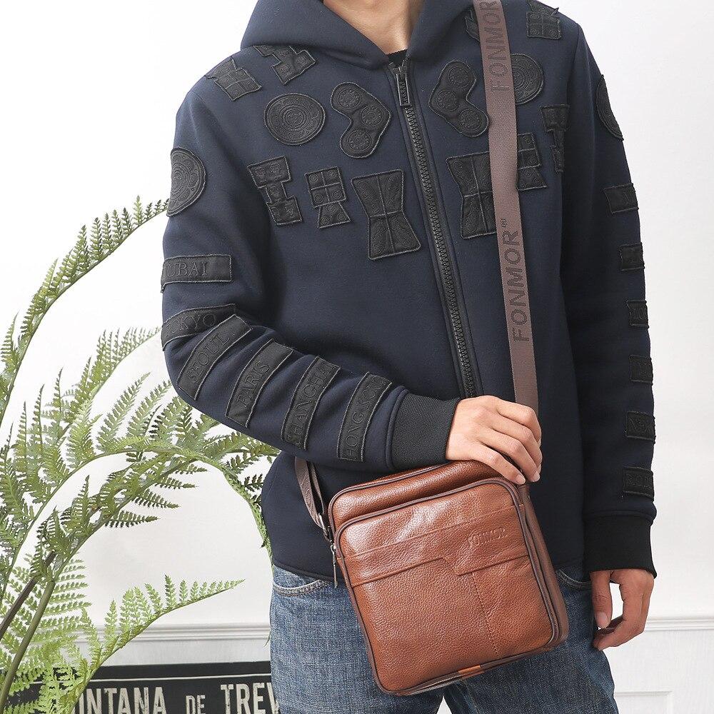 Messenger Dark 052418 il Uomo Coffee Chiaro Bag Uomini marrone Cuoio Nuovi Caldi Nero Shoulder Di vr0wrP8zxq