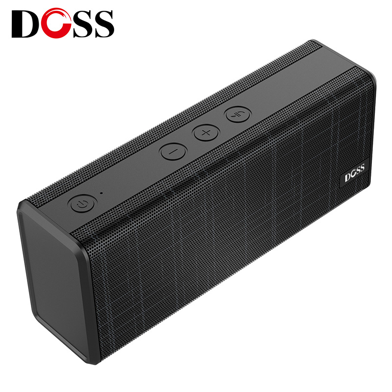 DOSS Portable Wireless Bluetooth Speaker 12W Stereo with Bass and Built-in Mic Hands free For iPhone Xiaomi Support AUX USB TF ecandy bluetooth speaker 6 hours of playing time built in mic for hands free speakerphone rechargeable wireless speaker aux line in