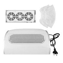 Professional Nail Dust Suction Collector Vacuum Cleaner Manicure Salon Tools with 3 Powerful Fan EU Plug