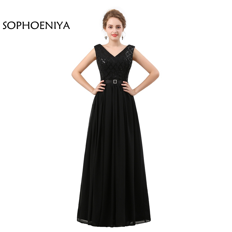 Aliexpress.com : Buy New Arrival V Neck Black Formal dress