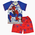 Cartoon suit children boys summer T-shirt + shorts pants leisure set home comfortable 100% cotton kids clothes free shipping