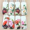 4 hojas Nail Sticker Fancy Pretty Women Completa Wraps Marca de Agua Estilos de flores 3d DIY Decoraciones de Uñas de Arte Brillante de Uñas C268-271