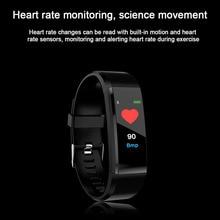 Купить с кэшбэком New 115 Plus Color Screen Smart Bracelet Heart Rate Blood Pressure Band Fitness Sport Wristband for Ios Android Men Smart Watch