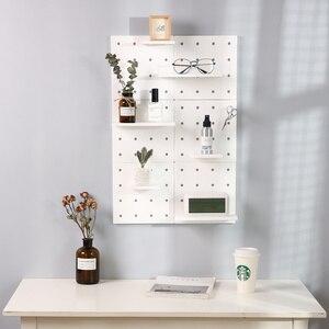 Image 3 - Estante de almacenamiento de plástico montado en la pared hogar Decoración de cocina inodoros estante de pared elegante Almacenamiento de exhibición Simple de moda
