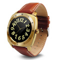 Smart Watch DM88 круглый дисплей кожаный ремешок bluetooth smartwatch поддержка монитор сердечного ритма для ios android-коммуникатор 2017 новый