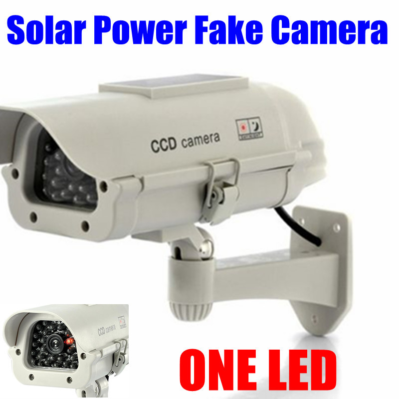 Indoor Outdoor Solar Powered Flashing LED Light Dummy Fake CCTV Security Outdoor IR Camera 4 pcs lot motion detection bullet camera security dummy solar powered w flashing led