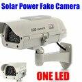 Interior Ao Ar Livre Solar Powered Piscando Led Falso Manequim CCTV Segurança Câmera IR Ao Ar Livre