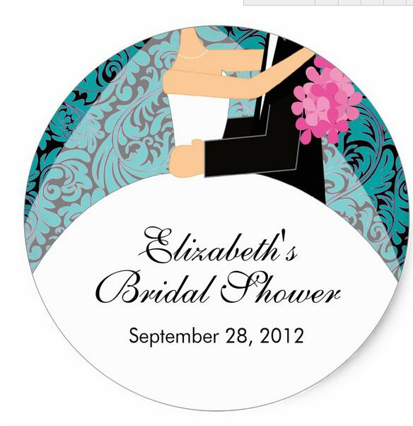 38cm damask bride groom bridal shower sticker turquoise in stickers from home garden on aliexpresscom alibaba group