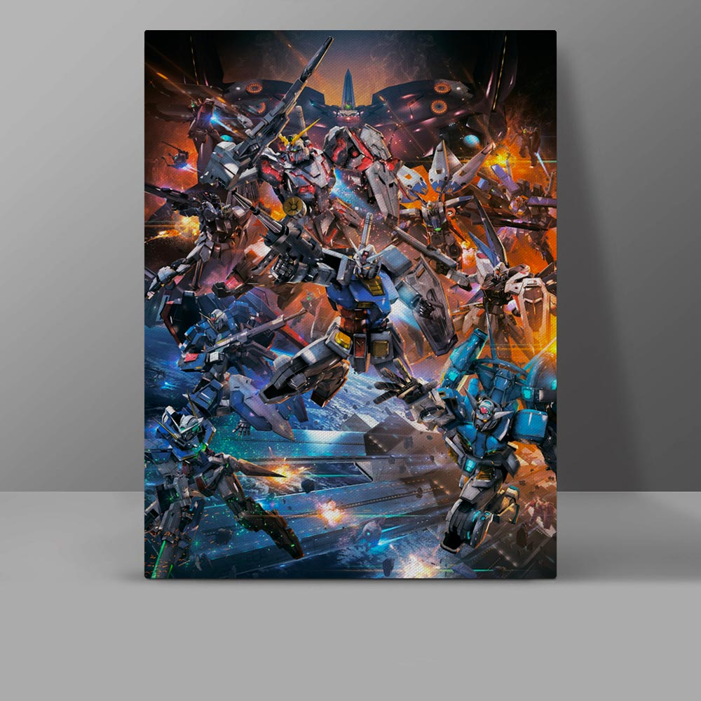 Mobile Suit Gundam Canvas Painting Video Game Super Robot Wars Anime Wall Pictures Corridor HD Print Hanging Painting