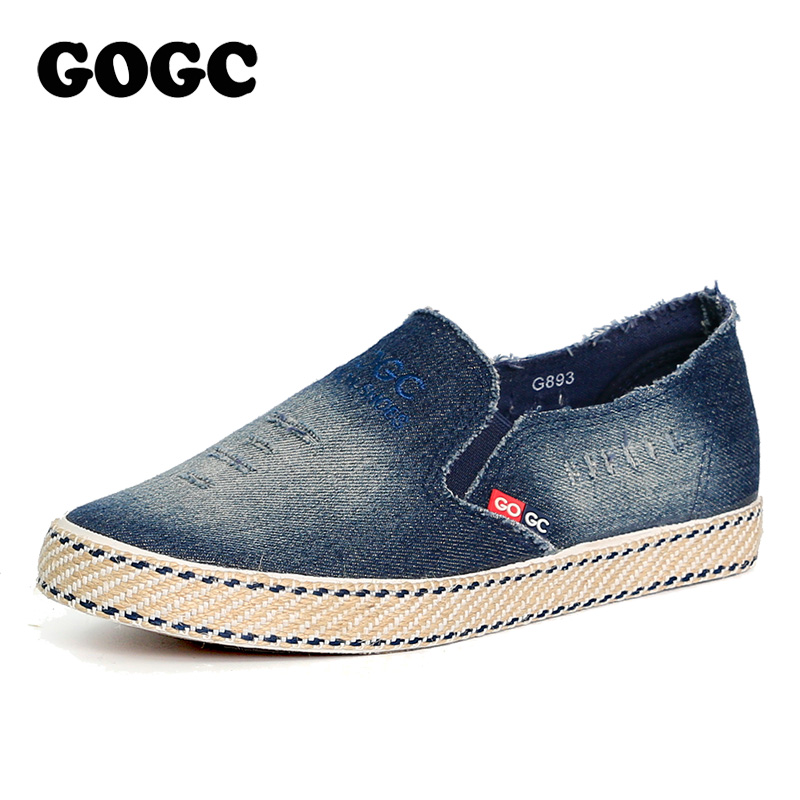 c6b2e248644 GOGC Fashion Denim Shoes Women Slipony Comfortable Breathable Canvas Shoes  Women Casual Shoes Female Footwear Flat