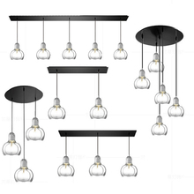 где купить Modern LOFT LED Pendant Lights Clear/gray/amber Glass Pendant Lamps Lampshade Hanging Lamp Cafe Bar Restaurant Lighting Fixtures по лучшей цене
