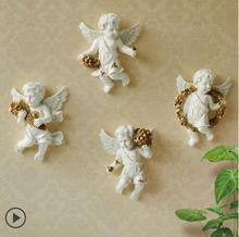 European-style cherub wall decoration hanging living room TV background