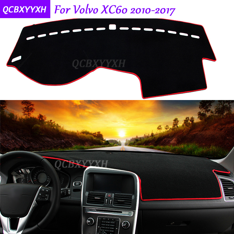 For Volvo XC60 2010-2017 Dashboard Mat Protective Interior Photophobism Pad Shade Cushion Car Styling Auto Accessories vlinder 2017 new 2 sets of tiger autumn and winter male baby cotton long sleeved t shirt tie with harem pants boy suit