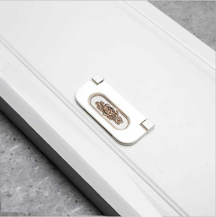 In Lega di alluminio di Fascia Bassa Armadio Nascosta Fibbia Europea Moderna Armadio Maniglia Del Cassetto Porta Del Ferramenta per mobili Maniglia