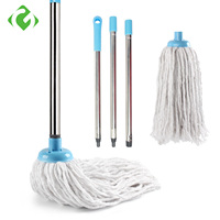 GUANYAO Cotton thread  Mops  Stainless steel Handle Manually Dehydration Mops Circular Household Cleaning mops floor cleaning|Mops|   -