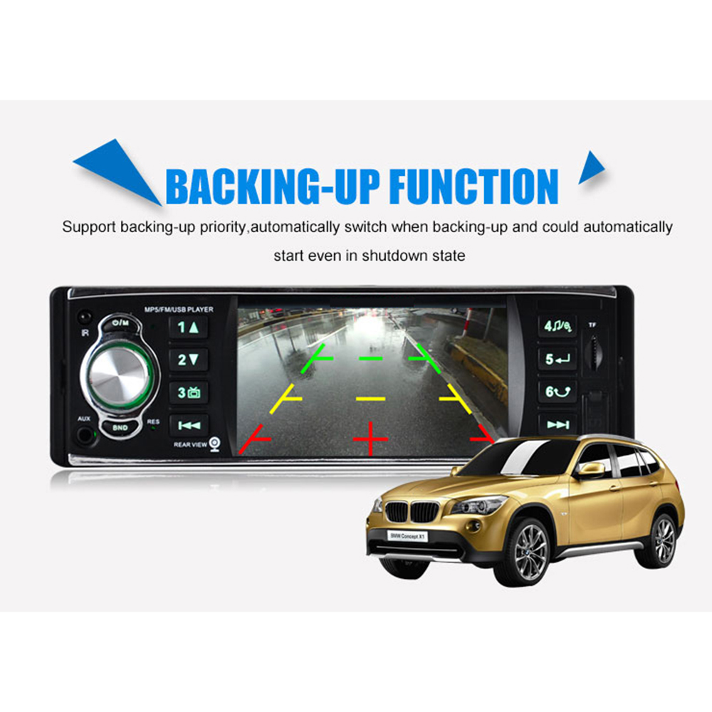 ФОТО 4 Inch Car Radio Auto with SD USB Receiver MP5 Audio System FM 2 din Car Stereo Player Traveling with Screen Reversing Radio