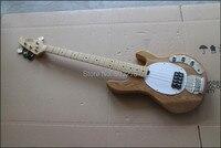 Китайский блестят Новый 4 струны sting ray 5 бас светло голубой цвет электрическая бас гитара Бесплатная доставка, MMN4