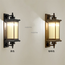 Chinese Retro Style LED Light Fixture Bedroom Bedside Wall Sconce Lighting Corridor Aisle Simple Wall Lamp Modern Home Decor simple style wood wall sconce modern led wall lamp creative bedroom bedside wall light fixtures home lighting lampara pared