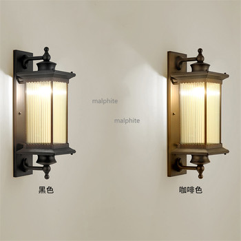 Chinese Retro Style LED Light Fixture Bedroom Bedside Wall Sconce Lighting Corridor Aisle Simple Wall Lamp Modern Home Decor american retro village wall lamp e27 holder glass lampshade crystal bell style bedroom bedside lamp balcony corridor lighting