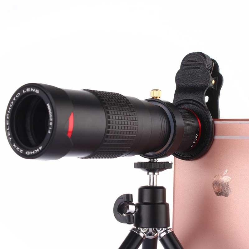 Clip universel 22x double Zoom téléobjectif télescope 4 K HD téléphone objectif pour Samsung Galaxy Note 2 3 4 5 7 8 9 Edge A9 A8 A7 A5 A3