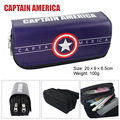 Captain America iron man bag wallet Batman movie double zipper wallet stationery pen large capacity