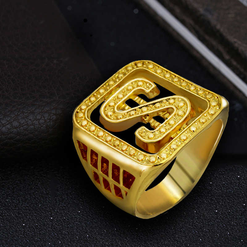 Gold Colors Classic Men s Style Punk Hip Hop Ring Cool Lion Head Dollar Ring  Jewelry 627647bf1847